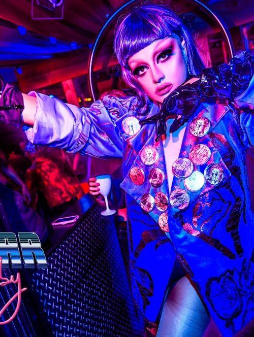 DJ Smiley Virus wearing Adam Frost - hundred showroom®